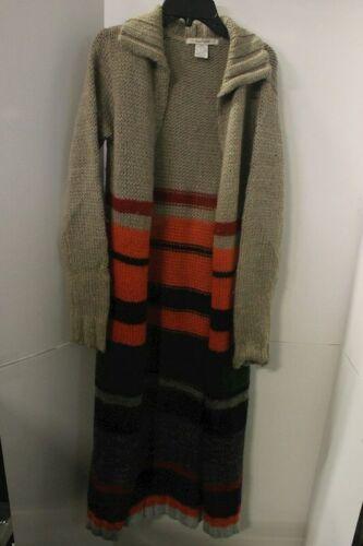 Free People Women's Long Knit Cardigan Size S/P Boho Hippie Sweatercoat Maxi