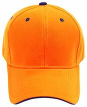 Buy Caps and Hats Orange Hunting Hat Hi-Vis Cap Hunters Safety with Navy Blue Tr - £6.23 GBP