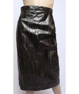 Vintage Krizia Italie Neiman Marcus 100% Anguille Cuir Peau Vert Taille ... - $284.25