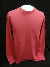 PORT & Co.~Long Sleeve T-Shirt Soft Cotton Casual Plain Tee~SANGRIA~ Sz ... - $7.69