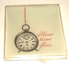 RING /TRINKET GLASS HOW TIME FLIES TRAY - $14.00