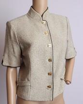 St. John Collection Marie Gray Santana Knit Speckled Dress Blazer Jacket 6 - $132.99