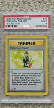 Pokemon Trader 77/102 1st Edition Base Set PSA 9 1999 Pokemon Game Shado... - $69.99