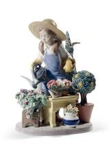Lladro In My Garden Girl Figurine 01008663 - $2,500.00