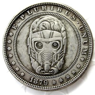 Primary image for !!! Star Lord !!!Hobo Nickel 1879 Morgan Dollar Guardians of the Galaxy Coin