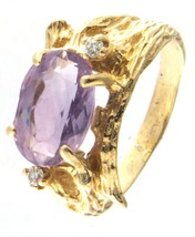 Women's 14kt Yellow Gold Cluster ring - $499.00