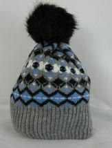 Vera Bradley Jacqurd Pom Pom Beanie Playful Penguins NWT Blue Grey Free ... - $29.02