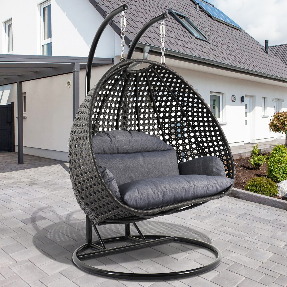 Ugraded 2 Person Outdoor Wicker Swing Chair And 40 Similar Items