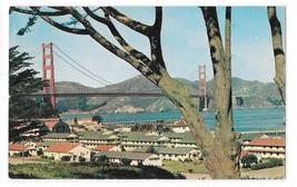 CA San Francisco Presidio Barrack Area Bay Golden Gate Bridge Vintage Po... - $6.69