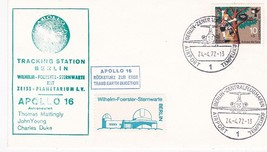 TRACKING STATION BERLIN APOLLO 16 GERMAN POSTMARK 4/24/1972 - $1.98