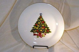 Sea Gull China Christmas Tree Dinner Plate - $4.84