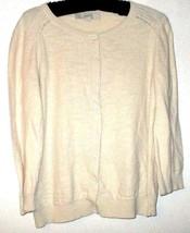 Ann Taylor Loft Beige Button Down Cardigan Size M - $14.00