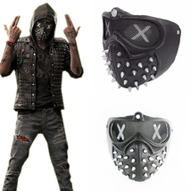 Watch Dogs 2 Deadsec Aiden Pearce Wrenc Cosplay Mask Half Face Mouth-Muffle Prop - £27.28 GBP