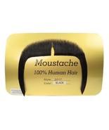Moustache Mandarin Fu Man Chu  Long Biker Black Human Hair Rubies 2017 - $12.82