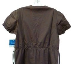 Brown Scrub Set XL V Neck Top Drawstring Pants Women's Medical Uniforms #616/701 image 7