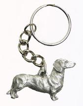 Dachshund  Dog Keychain Keyring Harris Pewter Made USA Key Chain Ring - $9.48