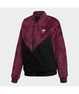 New Adidas Originals CLRDO Women Fleece Casaco Track Jacket Maroon Hoodi... - $119.99