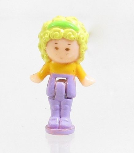 1990 Vintage Lot Polly Pocket Doll Figure Polly's Hair Salon - Polly Bluebird