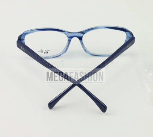 4ce2fe52ad1 New Ray Ban Eyeglasses RB 5341-F5572 Clear Blue Acetate 55 17 140 Authentic