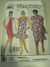 Simplicity 9724 BBW WOMEN'S DRESS & JACKET SZ 18-24w uncut - $5.50