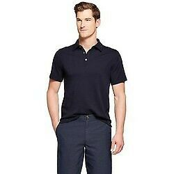 NEW Men's Standard Fit Short Sleeve Elevated Ultra-Soft Polo Shirt - Navy - Sz S