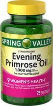Spring Valley Women's Health Evening Primrose Oil Softgels, 1000mg, 75 C... - $25.02