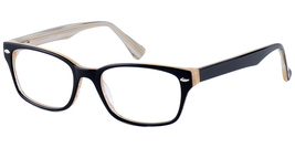 Baron Eyewear BZ90 Eyeglasses in Black Over Tan Stripe  - $59.99