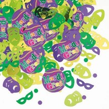 Mardi Gras! Party Confetti .5 oz package Paper and Foil - $2.99
