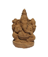 "3.5"" Eco-Friendly Ganesh Idol Villianur Clay Best for Ganesh Chaturthi I... - $19.99"