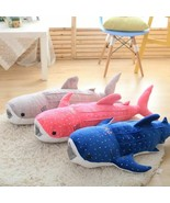 20-60in Blue Shark Plush Toys Big Fish Cloth Doll Whale Stuffed Sea Anim... - $21.71+