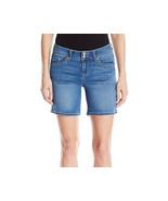 Seven 7 Seven7 Catalina BERMUDA Shorts Crystal Button Blue Jean Shorts S... - $36.74