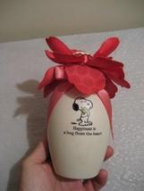 "HALLMARK peanuts snoopy ""blooming experience"" musical flower vase - $20.98"