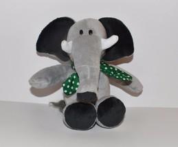 "Plush 12"" Green Kinder Surprise Grey Elephant w Green Scarf  Kinderegg F... - $11.29"