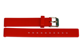12MM Red Smooth Rubber Silicone Watch Band Strap - $12.38