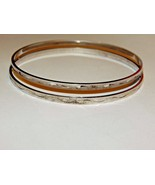 Matched Pair of A&Z Sterling Signed Etched Bangle Bracelets - $49.99