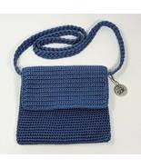 "The Sak Crochet Shoulder Purse Cornflower Blue Perfect for Travel 6"" X 7.5"" - $34.99"