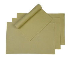 Cotton Placemats Diamond Texture Taupe 4/pack - $18.55