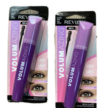 Revlon Volumazing 100% Volumized Mascara #901 Blackest Black Lot Of 2 Ne... - $8.45