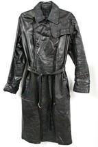 Yohji Yamamoto Noir Black Leather Trenchcoat Unisex  M Designer Coat Max... - $1,395.00