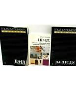 Calculator GuideBook Lot of 3 TI Business BA II Plus, HP-12C TI Business... - $7.83