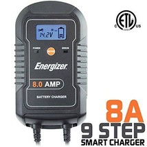Energizer ENC8A 8 Amp Battery Charger with LCD + Maintainer 6/12V - 9 St... - $57.49
