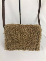 STEVE MADDEN BKATE Brown CAMEL FAUX FUR Crossbody HANDBAG - $18.90