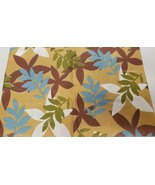 "THIN FLANNEL BACK Vinyl Tablecloth 52"" x 52"" Square,COLORFUL LEAVES ON B... - $8.90"