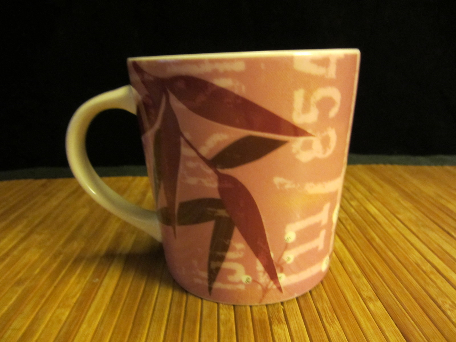 2006 Starbucks Pink Guatemala Design Coffee Mug Tea Cup 16 oz