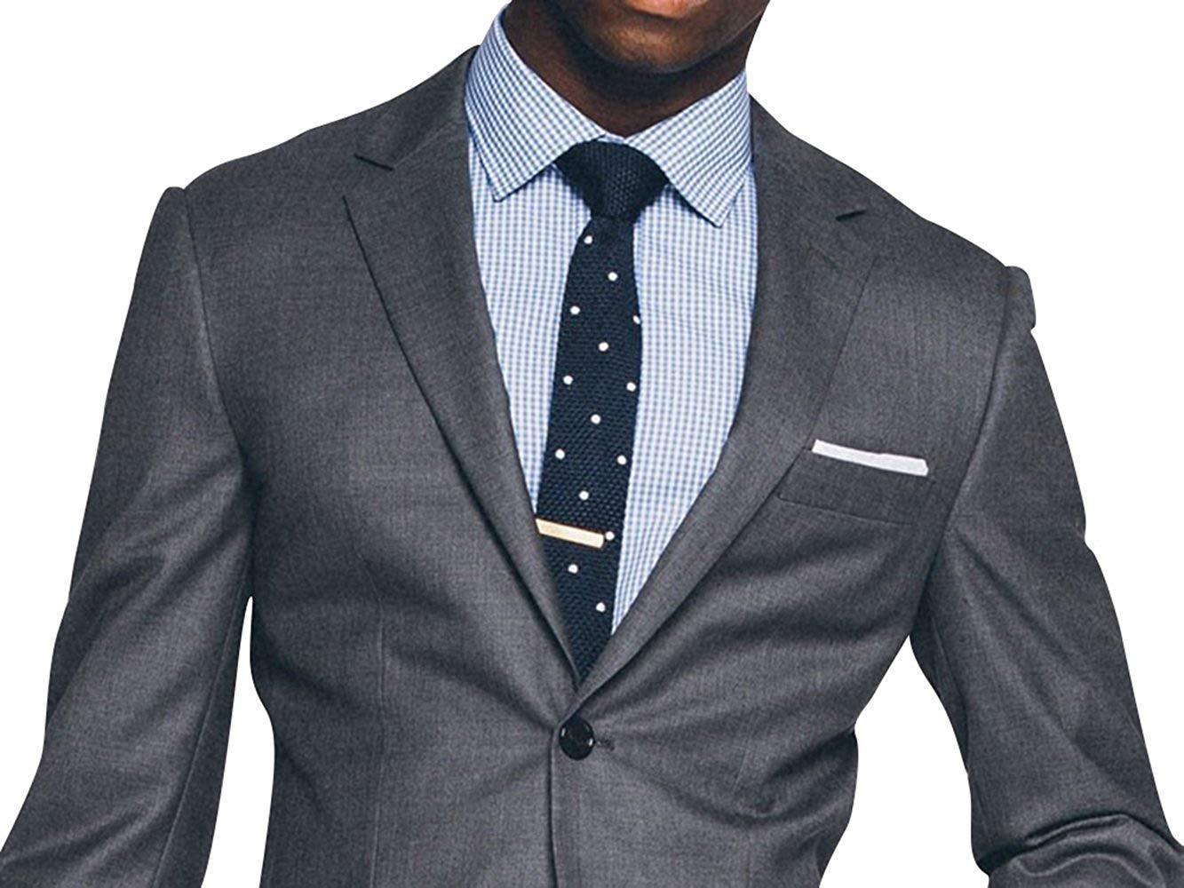 Mens classic lapel style gray 2 piece slimfit suit
