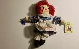 "1991 Applause Raggedy Ann Soft Doll 12"" Johnny Gruelle Embroidered Face ... - $19.79"