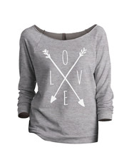 Thread Tank LOVE Cross Arrows aka Cross Love Arrows Women's Slouchy 3/4 ... - $24.99+
