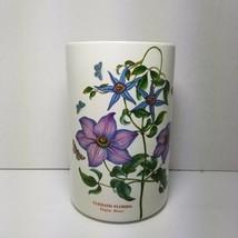 "Portmeirion Botanic Garden Clematis Florida Virgins Bower 7.5"" Canister No Lid - $28.04"