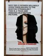 "Original Boston Strangler 1968 movie poster Tony Curtis Henry Fonda 27"" ... - $58.84"