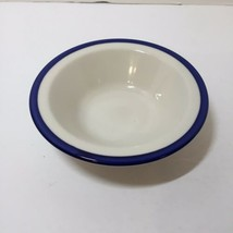 "Soup Cereal Bowl Homer Laughlin White Blue Band 6.5"" JG  - $9.74"